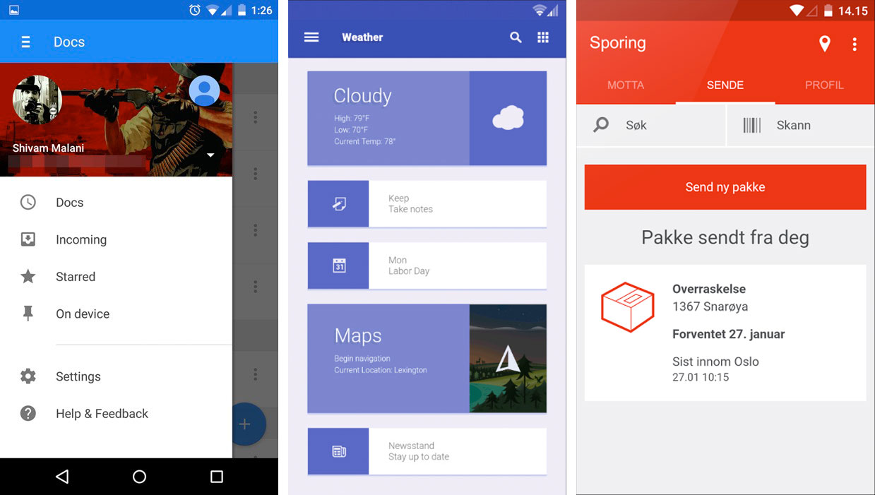 Examples of material design