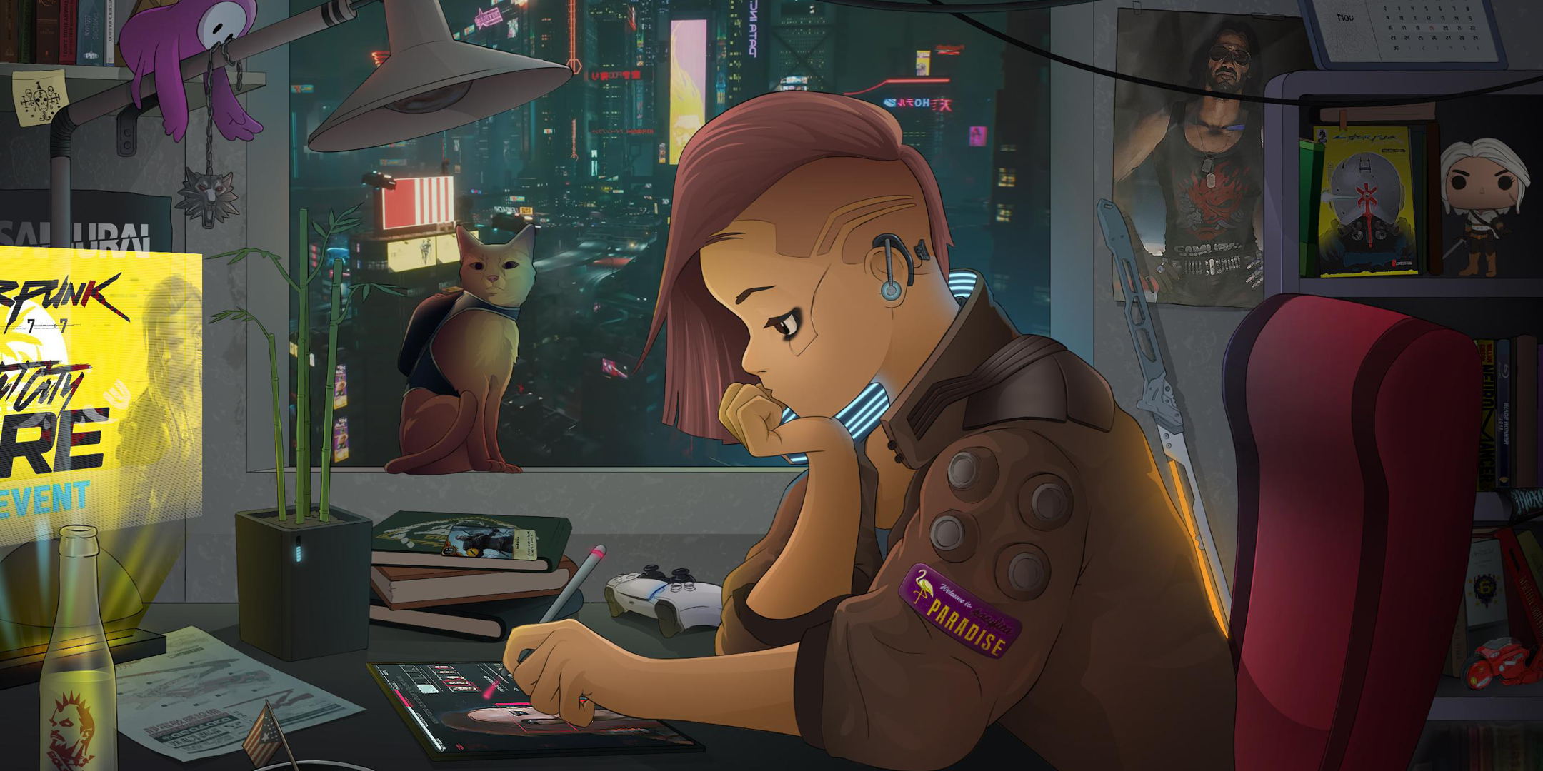 Lo fi Girl Cyberpunk Edition Feature Image